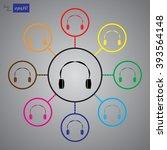 headphone icon vector | Shutterstock .eps vector #393564148