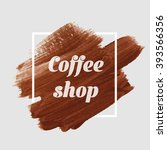 Coffee Logo Text Background...