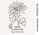 happy mother's day floral... | Shutterstock .eps vector #393566746