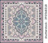 vintage vector turkish rug... | Shutterstock .eps vector #393568318