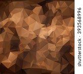 brown polygonal mosaic... | Shutterstock .eps vector #393568996
