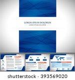 vector brochure  flyer ... | Shutterstock .eps vector #393569020