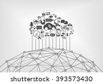 connected car and internet of... | Shutterstock .eps vector #393573430