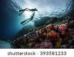 Two Freedivers Swimming...