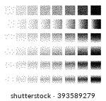 set of 48 triangle stipple... | Shutterstock .eps vector #393589279