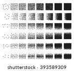 set of 48 hearts stipple... | Shutterstock .eps vector #393589309