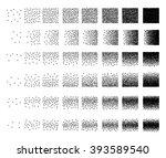 set of 48 triangle  stipple... | Shutterstock .eps vector #393589540