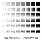 set of 48 square stipple... | Shutterstock .eps vector #393589543