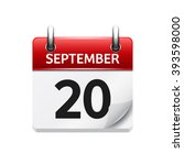 september  20. vector flat...
