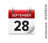 september 28 . vector flat...