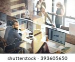 business team discussion... | Shutterstock . vector #393605650