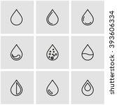 vector line drop icon set.   Shutterstock .eps vector #393606334