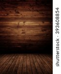 empty wooden interior room. | Shutterstock . vector #393608854