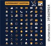 supermarket shopping icons  | Shutterstock .eps vector #393609814