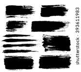 brush strokes set. paintbrush... | Shutterstock .eps vector #393611983