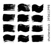brush strokes set. paintbrush... | Shutterstock .eps vector #393611998