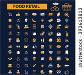food retail icons   | Shutterstock .eps vector #393613813