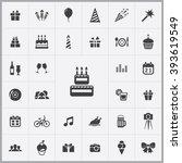 simple birthday icons set....