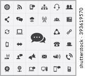 simple communication icons set. ... | Shutterstock .eps vector #393619570