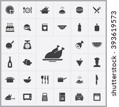 simple cooking icons set.... | Shutterstock .eps vector #393619573