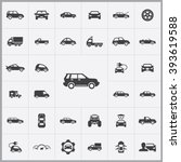 simple car icons set. universal ... | Shutterstock .eps vector #393619588