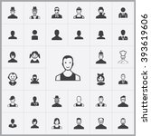 simple avatar icons set.... | Shutterstock .eps vector #393619606