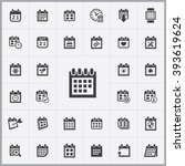 simple calendar icons set.... | Shutterstock .eps vector #393619624