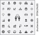 simple business planning icons... | Shutterstock .eps vector #393619630