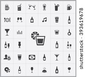 simple bar icons set. universal ...