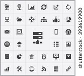 simple big data icons set....