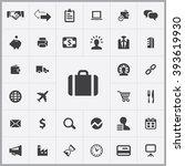 simple b2b icons set. universal ...