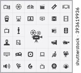 simple cinema icons set.... | Shutterstock .eps vector #393619936