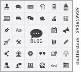simple blog icons set....