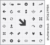 simple arrows icons set.... | Shutterstock .eps vector #393619984