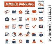 mobile banking icons  | Shutterstock .eps vector #393621199