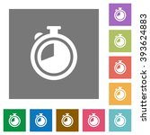 timer flat icon set on color...