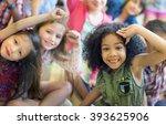 child companionship diversity... | Shutterstock . vector #393625906