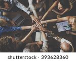 team unity friends meeting... | Shutterstock . vector #393628360