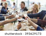 business people party... | Shutterstock . vector #393629173