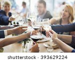business people party... | Shutterstock . vector #393629224