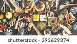 friends happiness enjoying... | Shutterstock . vector #393629374