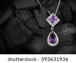 jewelry pendant witht gems on... | Shutterstock . vector #393631936