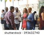 diversity people party brunch... | Shutterstock . vector #393632740