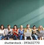 diversity people connection... | Shutterstock . vector #393632770