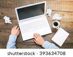 top view creative photo of...   Shutterstock . vector #393634708