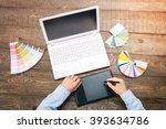 top view creative photo of...   Shutterstock . vector #393634786