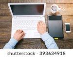 top view creative photo of...   Shutterstock . vector #393634918