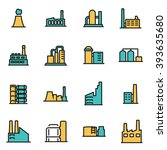 trendy flat line icon pack for... | Shutterstock .eps vector #393635680