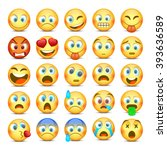 set of emoji. collection... | Shutterstock .eps vector #393636589