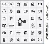 simple electronics icons set.... | Shutterstock .eps vector #393640624